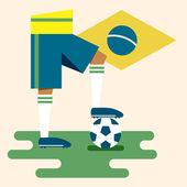 Brazil, National soccer kits — Stock Vector