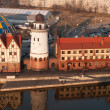 Fishing Village. Ethnographic and trade center in Kaliningrad. R — Stock Photo