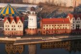 Fishing Village. Ethnographic and trade center in Kaliningrad. R — Stock Photo