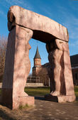 Kant s cathedral and sculptural arch in Kaliningrad — Stock Photo