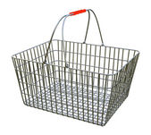 Shopping basket - isolated on white background — Zdjęcie stockowe