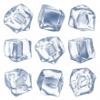 Stock Photo: Ice cubes - isolated on white background