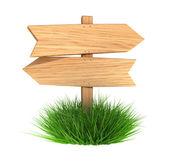 Wooden arrow board — Stock Photo