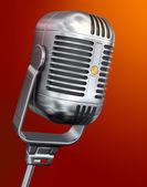 Microfono vintage — Foto Stock