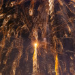 Long exposure fireworks against a black sky — Stock Photo