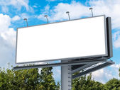 Billboard z pusty ekran — Zdjęcie stockowe