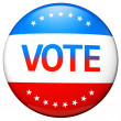Vote election campaign badge — Stockfoto #13842049