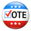 Stock Photo: Vote election campaign badge