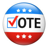 Vote election campaign badge — Stock Photo