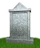 Blank gravestone — Stock Photo
