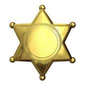 Altın şerif — Stok fotoğraf