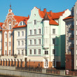 Houses on the waterfront in Kaliningrad — Stock Photo #16783945