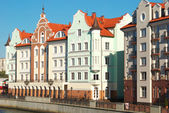 Houses on the waterfront in Kaliningrad — Stock Photo