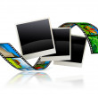Empty frames with film strip — Stock Photo
