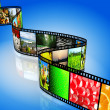 Film strip with colorful images — Stock Photo
