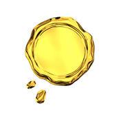 золотистое уплотнение воска — Стоковое фото