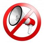No speak sign or keep quiet — Stock Photo