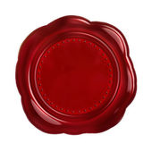 Rode zegel wax — Stockfoto
