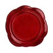 Sigillo rosso cera — Foto Stock
