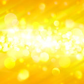 Yellow bokeh abstract background — Stock Photo