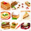 Collage with different sweet dessert — Stock Photo