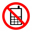 No mobile phone sign - Stock Photo