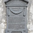 A plaque in honor of the German philosopher Immanuel Kant. Kalin — Stock Photo