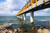 Concrete pier or Jetty on the beach — Foto Stock