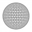 Disco ball - stylized illustration  — Stock Photo