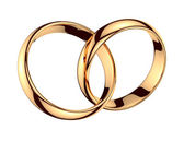 Pair of golden rings — Stock Photo