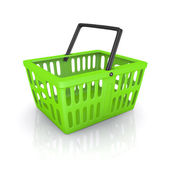 Shopping basket - isolated on white background — Stock Photo