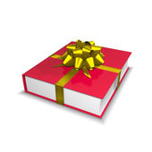 Red book with ribbon and bow — Stock Photo
