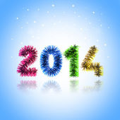 Colorful card New Year 2014 — Stock Photo
