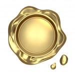Golden seal wax — Stock Photo