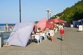 Promenade in Svetlogorsk. Kaliningrad region — Stock Photo