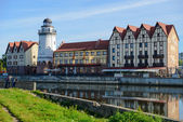 Ethnographic and trade center in Kaliningrad — Foto de Stock