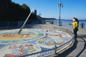 Mosaic sundial in Svetlogorsk, Russia — Stock Photo