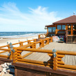 "Cafe ""Am! Bar"" on the beach of the Baltic Sea. Zelenogradsk — Stock Photo"