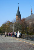 School excursion to the Kant's island. Kaliningrad — Stock Photo