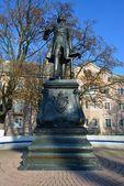 Monument to Peter the Great in Baltiysk. Kaliningrad region — Stock Photo