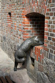 Bronze sculpture of a cat. Kaliningrad — Stockfoto