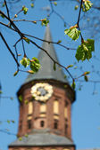 Clock in the tower of Kant's cathedral in Kaliningrad — Стоковое фото