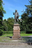 Monument of Immanuel Kant, German philosopher, founder of German classical philosophy in Kaliningrad, Russia — Stock Photo