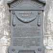 Stock Photo: Plaque in honor of Germphilosopher Immanuel Kant