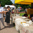 Stock Photo: Street trade in goods of folk art at celebration day of city Kaliningrad, Russia