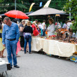 Stock Photo: Street trade in goods of folk art at celebration day of city Kaliningrad, Russia.