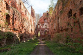 Balga - ruins of medieval castle of the Teutonic knights — Stock Photo
