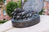 Monument to sprats in Mamonovo. Kaliningrad region. Russia — Stock Photo
