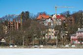 Construction of houses in Svetlogorsk — Stock Photo