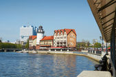 Fishing Village. Ethnographic and trade center in Kaliningrad. Russia — Stock Photo
